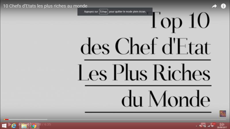 Les 10 Presidents Les Plus Riches Au Monde Seneplus